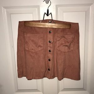 Forever 21 suede button down mini skirt